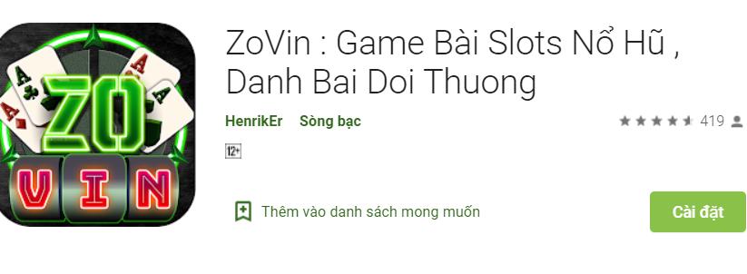 Tải game Zovin apk ios
